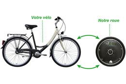 """前輪を取り換えるだけ!スマホでデータ管理できる自転車用""""電動タイヤ"""""""