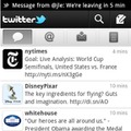 「Twitter for Android」の利用画面