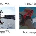 「HDRムービー」機能による鮮明な画像