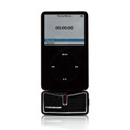 iPodと接続した「TUNEWEAR Stereo Sound Recorder for iPod」