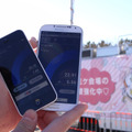 iPhone 5cとAndroidのGALAXY S4で速度調査を実施