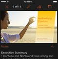 PowerPoint for iPhoneの画面