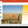 PowerPoint for Android tablet Previewの画面