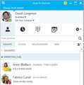 Skype for Business画面イメージ(モバイル)