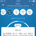 PM10などチェック項目の詳細を表示