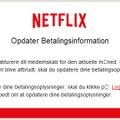 「Netflix」に見せかけたスパムメールのスクリーンショット