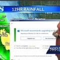天気予報中にWindows 10アップグレード通知の放送事故!気象予報士がとった対応は? 画像