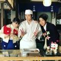 「ご来店です」山田裕貴、朝ドラの広瀬すず&中川大志と雪月セットで3ショット!