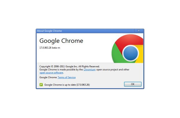 Google Chrome17.0.963.26β
