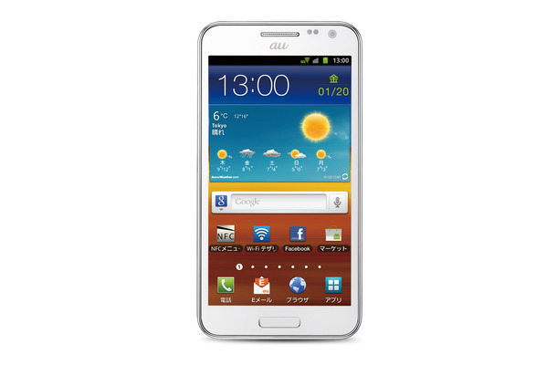 「GALAXY SII WiMAX ISW11SC」新色のセラミックホワイト