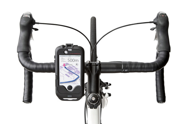 「BCY-HLD1BK」の自転車搭載イメージ(iPhoneは別売)