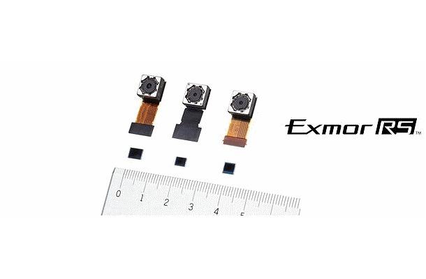 上:イメージングモジュール、下;積層型CMOSイメージセンサー「Exmor RS」