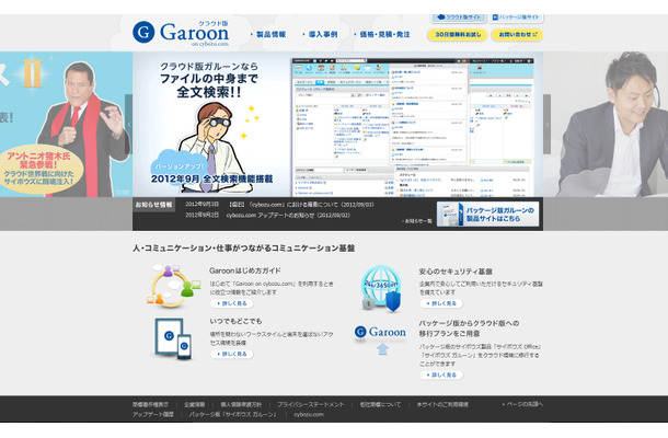 「Garoon on cybozu.com」