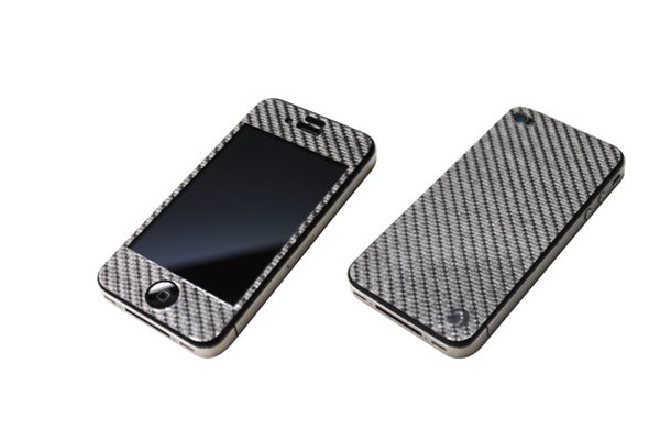 「SILVER CARBON PLATE for iPhone4/4S」グラファイト