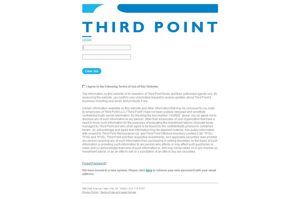 「Third Point LLC」サイト