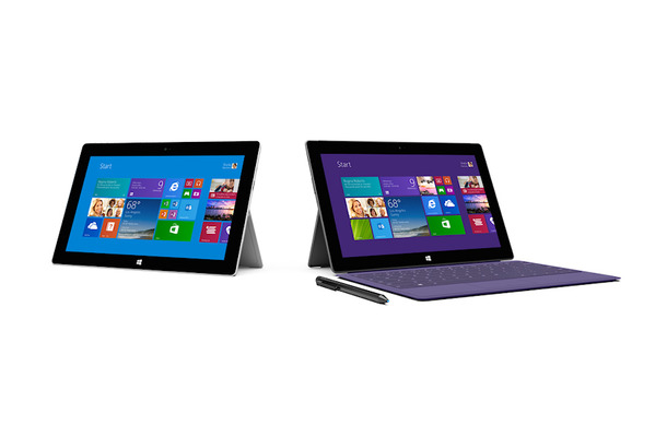 「Surface Pro 2」(右)と「Surface 2」