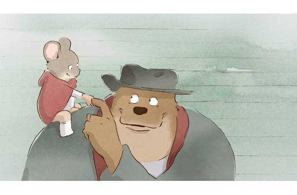 『Ernest et Celestine(原題)』(邦題:『アーネストとセレスティーヌ』) (c) 2012 LES ARMATEURS / MAYBE MOVIES / STUDIOCANAL / FRANCE 3 CINEMA / LA PARTI PRODUCTION / MELUSINE PRODUCTIONS / RTBF (TELEVISION BELGE)