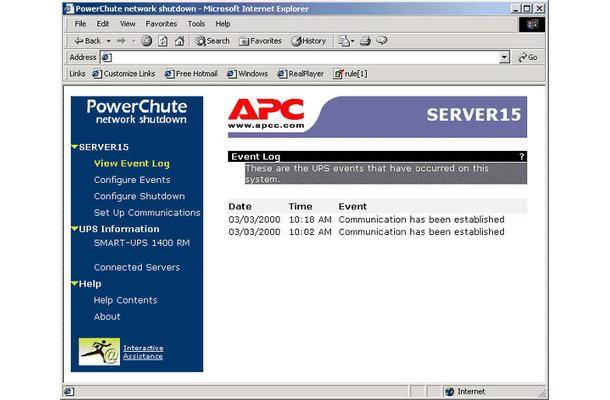 APC、UPS電源管理ソフトウェア「PowerChute」がWindows Server