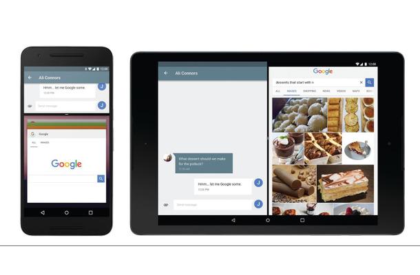 画面を分割して2つのアプリを同時に利用することが可能に