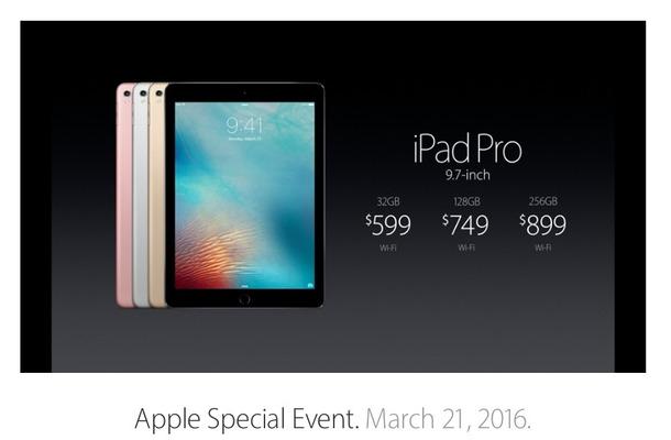 9.7インチの小型モデルの「iPad Pro」が登場