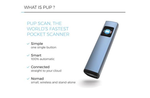 もうスマホじゃ我慢できない ポケットに入る最速スキャナ pup scan