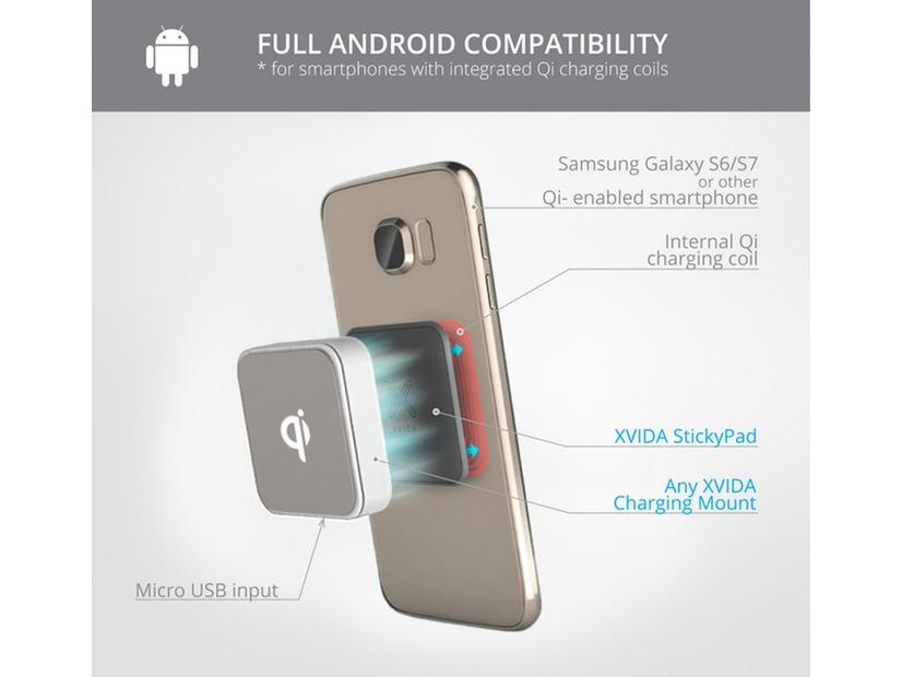 超高速充電「Qi」対応! スマホマウントシステム「XVIDA」