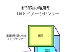 ソニー、積層型CMOSイメージセンサーを開発……支持基板を不要とし大幅に小型化 画像