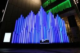 ソニービル「愛の泉」イルミネーション……あなたに光と音が反応[動画] 画像