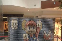 ツナ缶で作られたマリオと3DS 画像