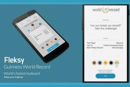 """""""世界最速""""の入力アプリ「Fleksy」、日本語版が登場 画像"""