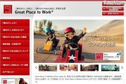 働きがいのある会社ランキング、大手1位は「日本マイクロソフト」 画像