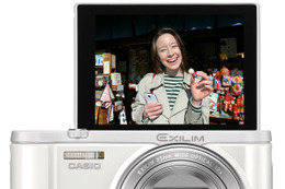 カシオ、Bluetooth搭載でスマホと常時接続できるデジカメ「EXILIM EX-ZR3100」 画像