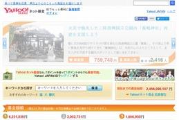 「返礼品付き」「くじ付き」の募金が登場……Yahoo!ネット募金 画像
