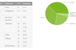 Androidのバージョン別シェア、Lollipopが初めて首位に 画像