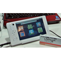 【Interop 2010(Vol.2):動画】NEC、Android搭載タブレット「LifeTouch」を参考出展 画像