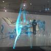 複合施設で行われているイベント。写真は3Dミクの画像