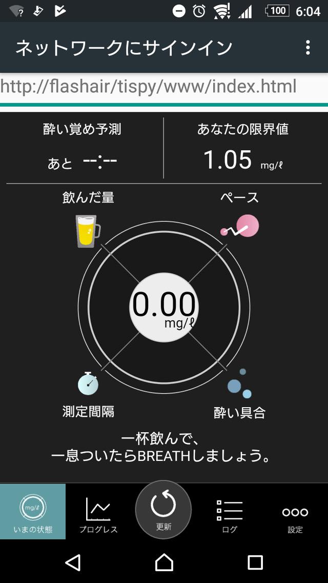 体内アルコール濃度は0.00ml/g! しかも限界値が上がってる!