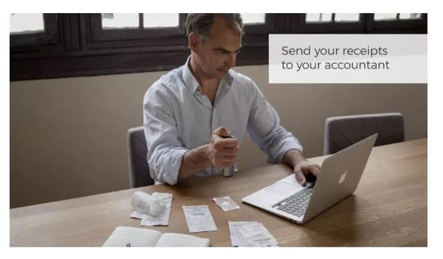 領収書をスキャンして記録することもできる