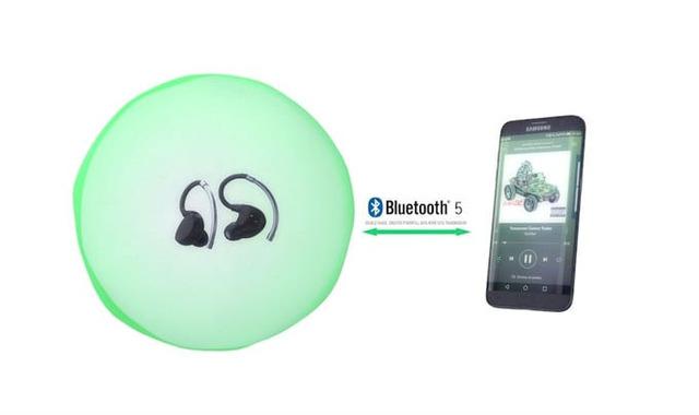 Bluetooth 5対応で高速通信ができる