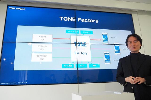企業 / 学校 / 会員組織などに小ロットで端末 / SIMを提供できる「TONE Factory」の開発を進めている
