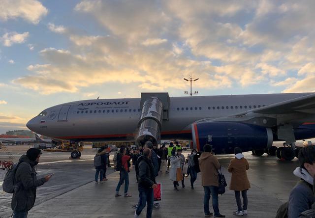 ロシアのモスクワ経由でバルセロナへ向かう道中。アエロフロート航空の機内Wi-Fiサービスを試してみた