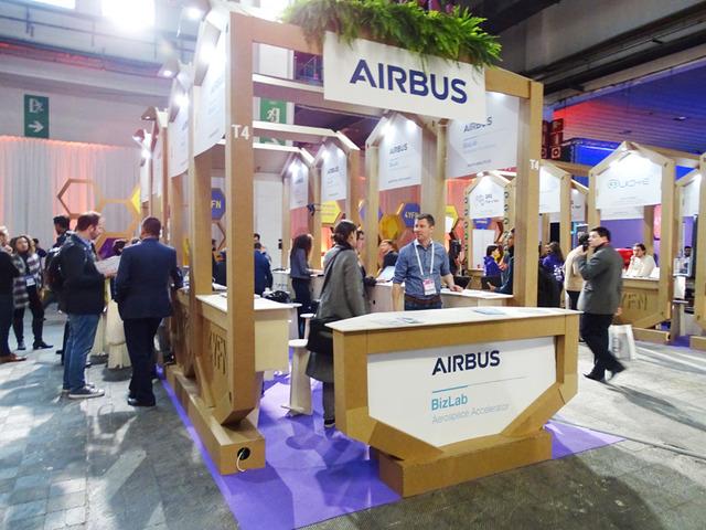 フランスのエアバス社がヨーロッパのスタートアップを集めてグループ展示を組織していた
