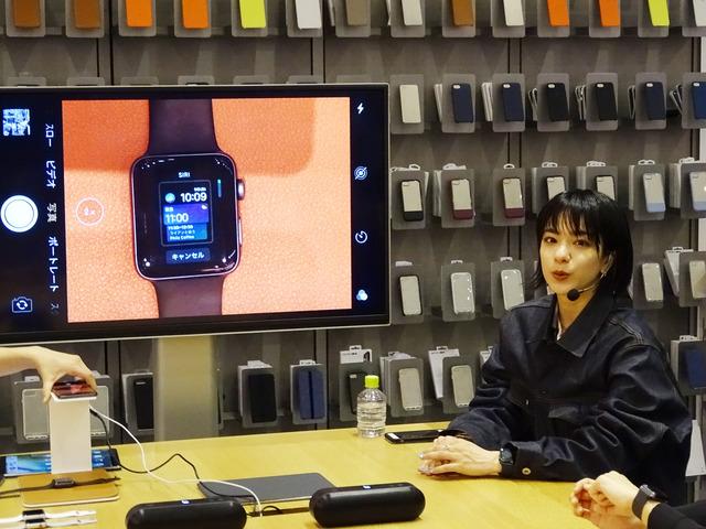 Apple表参道でApple Watchのアクティビティ機能を体験できるイベントを開催。ナビゲーターはモデル・アーティストのUNAが担当