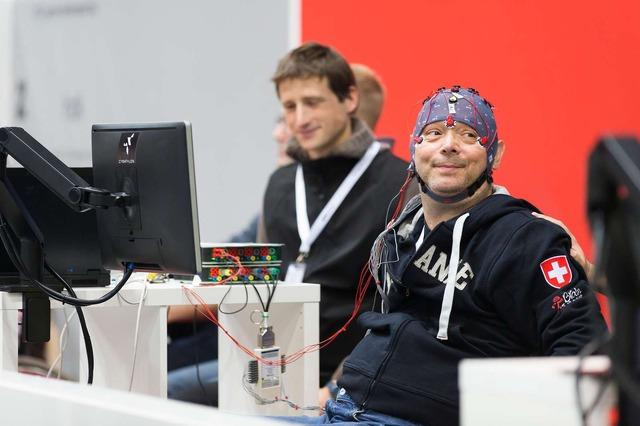 脳コンピュータ・インターフェース・レース(Brain Computer Interface Race)の模様。(c)ETH Zurich / Nicola Pitaro