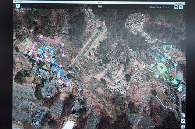 3次元地図対応の管理システムにより、高度方向を含む3次元で空域を管理できる