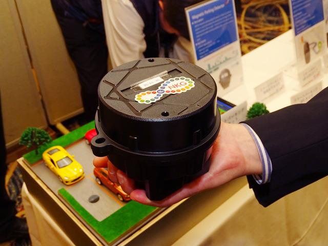 カルコンプが提案するスマートパーキング用のSigfox対応センサー