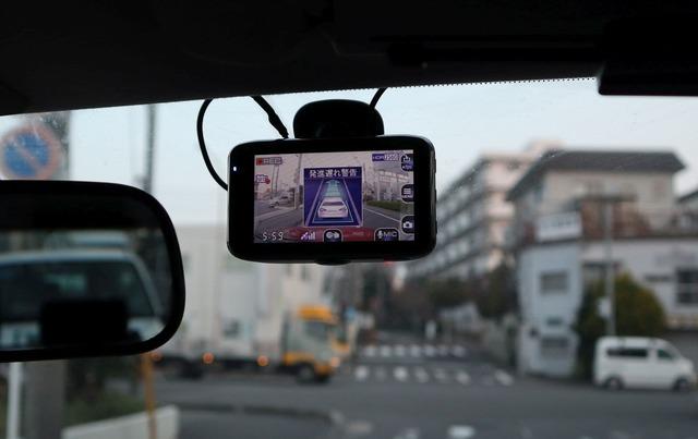 運転支援機能の警告画面
