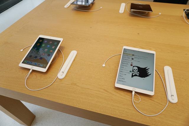 iPad Proと最新の第6世代のiPad。Apple Pencilの書き心地を比べてみては
