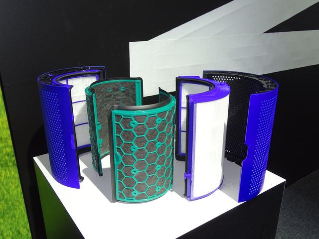 フィルターはグラスHEPAフィルターと活性炭フィルターの2つに分割される。交換用フィルターは両方を組み合わせた形で販売される