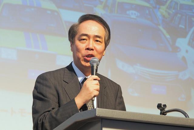神奈川県タクシー協会 会長の伊藤宏氏。「DeNAとの協業により、若い人材が集まるタクシー業界に変革していきたい」と抱負を述べた